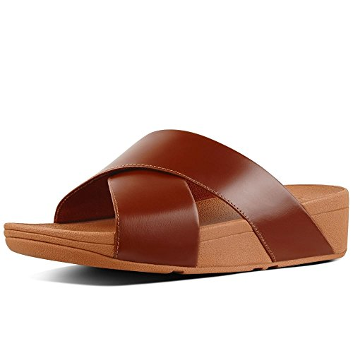 - FitFlop Lulu Cross Slide Womens Mules 8 C (M) UK/ 10 B(M) US Caramel