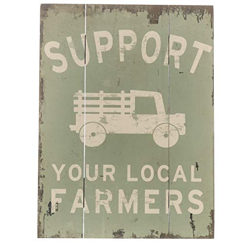 Barnyard Designs Support Your Local Farmers Retro Vintage Wooden Plaque Bar Sign Country Home Decor 15.75 x 11.75
