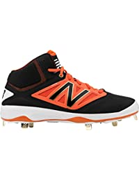 New Balance 4040v3 MidCut Metal Cleat Men's Baseball Black-Orange