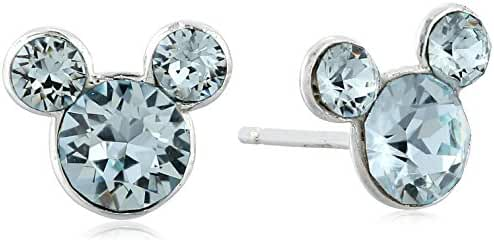 Disney Mickey Mouse Crystal Birthstone Stud Earrings