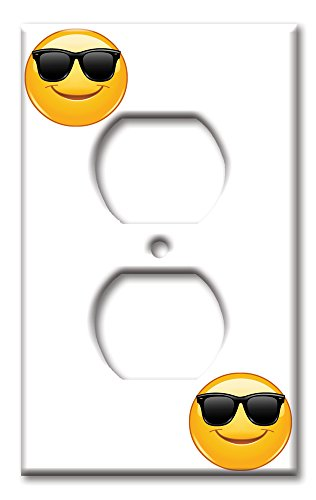 Art Plates brand - Single Gang Outlet Switch / Wall Plate - Sun Glasses - Outlet Sunglasses E