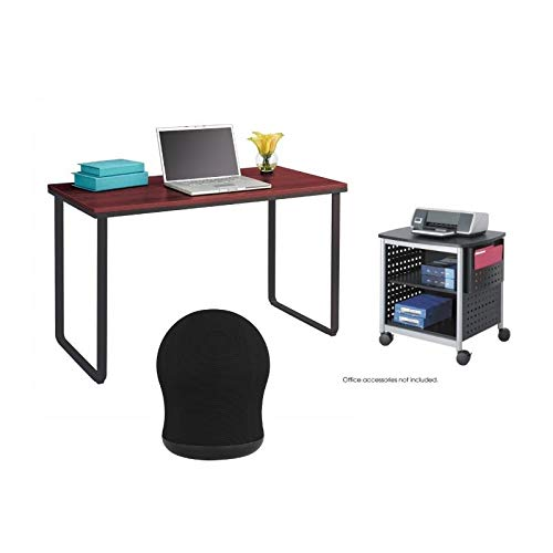 Safco 3 Piece Office Set with Scoot Printer Stand, Workstation and Swivel Ball Chair ()
