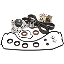 Evergreen TBK143VCT 88-95 Honda Civic Del Sol 1.5 SOHC D15B1 D15B2 D15B6 D15B7 D15B8 Timing Belt Kit Valve Cover Gasket Water Pump