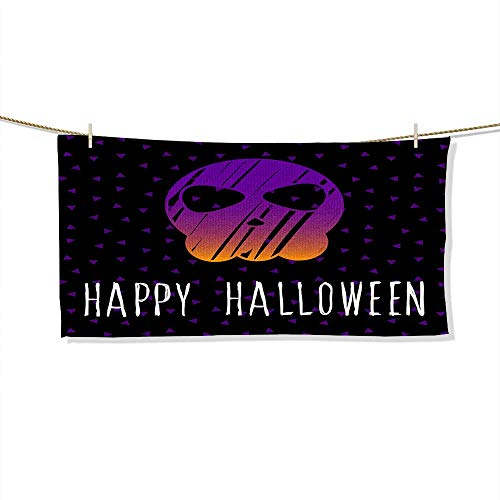 Kids Bath Towel- Happy halloween card template Abstract halloween pattern for design card party invitation poster album menu t Absorbent Fade Resistant Cotton Towel, -SIZE:35.4