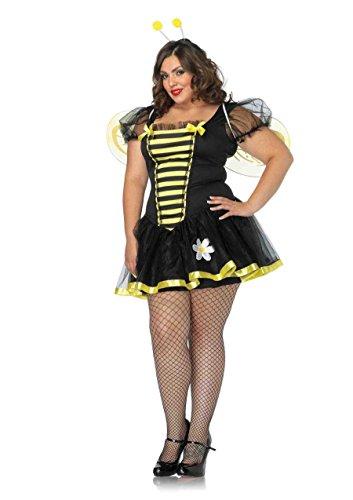 Leg Avenue Women's Plus-Size Daisy Bee Costume, Black/Yellow, 3X-4X for $<!--$59.95-->