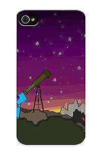 VenusLove Cute Tpu 9a2046d3235 Space Dog Telescope Case Cover Design For Iphone 4/4s