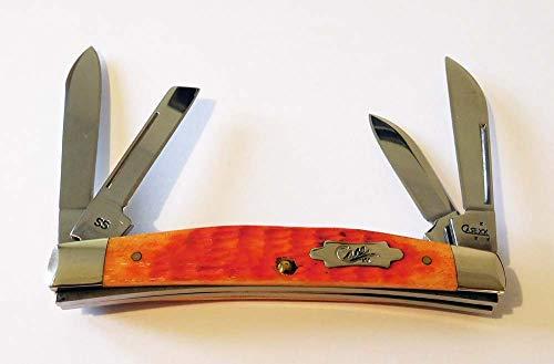 CASE XX 8545 Dark Orange Jigged Bone Handle 4 Blade 6488 SS Congress
