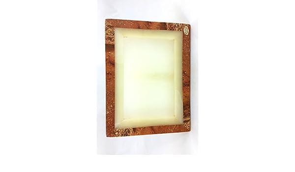 Portaretrato de Ónix Bicolor en Forma de Rectángulo Vertical 30 x 23 cm: Amazon.es: Hogar