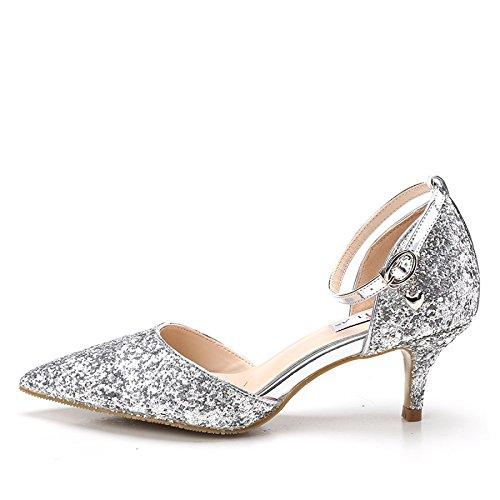 Mariage Avec Haut De Chaussures Paillettes Talon Marie 1XqdBvq
