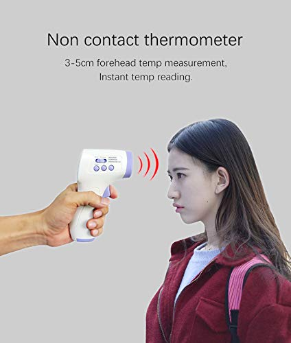 Non-Contact Forehead,Touchless Digital Temporal for Baby Kids with Fever Alarm, LCD Screen and Temperature Data Memory