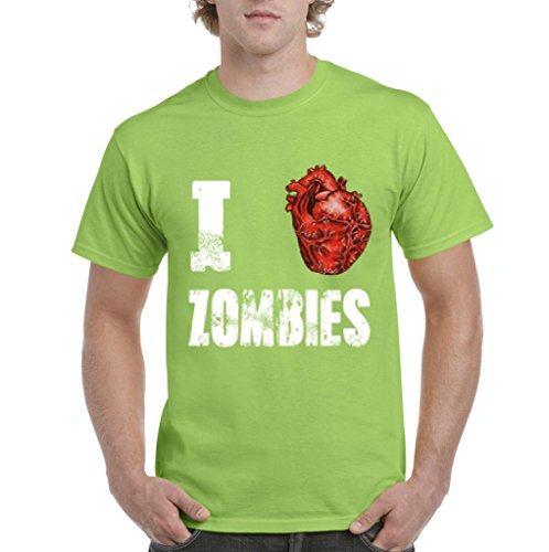 [Ugo I Love Zombies Popular Halloween Party Costume Gift for BFF Birthday Men's T-Shirt Tee] (Custom Inflatable Costumes)