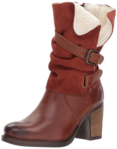 Bos. & Co. Womens borne Mid Calf Boot Cognac/Tan Varse Leather/Suede/Varse Lea pN4L1oVM