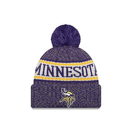 New Era Minnesota Vikings NFL 18 Sideline Sport Knit Hat Purple/Gold Size One Size