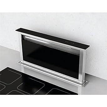 Lieblich Tischabzug 60 Cm Edelstahl Schwarzglas Für Arbeitsplatten Mit Touch Control  Intensivstufe Timer Und Filtersättigungsanzeige Dunstabzug Umluft