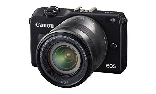 Canon EOS M2 Mark II 18.0 MP Digital Camera with 18-55MM F/3.5-5.6 IS EF-M STM Lens (Black) - International Version (No Warranty)