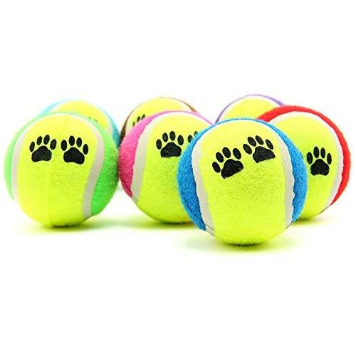 m·kvfa Funny Pet Dog Cat Toy Vogue Tennis Balls Run Catch Throw Play Chew Pets Puppy Toys