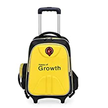 Flyshine EVA Kid Child School Backpack Rolling Backpack Wheeled Book Backpack Travelling Bags with Removable Wheeled Trolley Hand