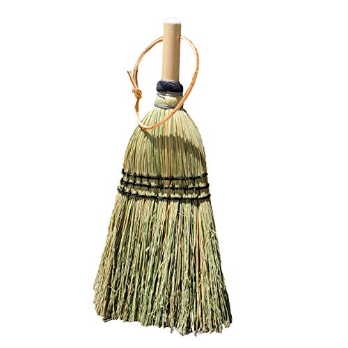 Authentic Hand Made All Broomcorn Broom (13.5-Inch/Deluxe Whisk)
