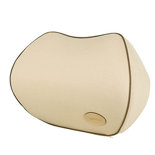Sincoco Car Neck Pillow, Premium Memory Foam Neck and Head Rest Pillow (Color:Beige)