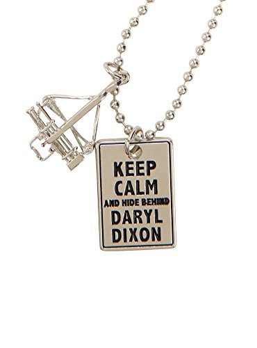 The Walking Dead Beadshot Keep Calm And Hide Behind Daryl Dixon Pendant Necklace]()