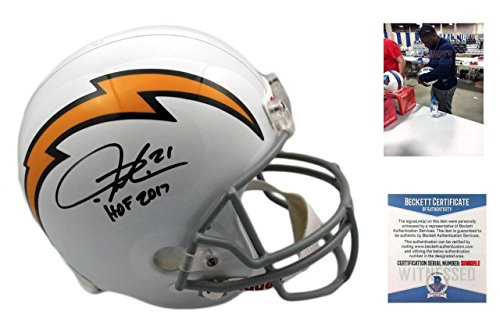 Ladainian Tomlinson Signed Authentic Helmet - Signed LaDainian Tomlinson Helmet - Full Size Beckett Authentic w Photo - Beckett Authentication - Autographed NFL Helmets