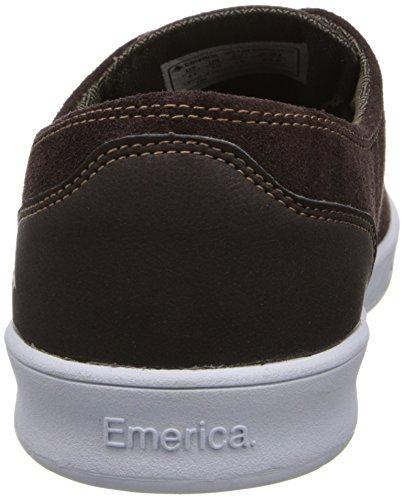 Emerica LACED BY LEO ROMERO - zapatillas de cuero hombre marrón