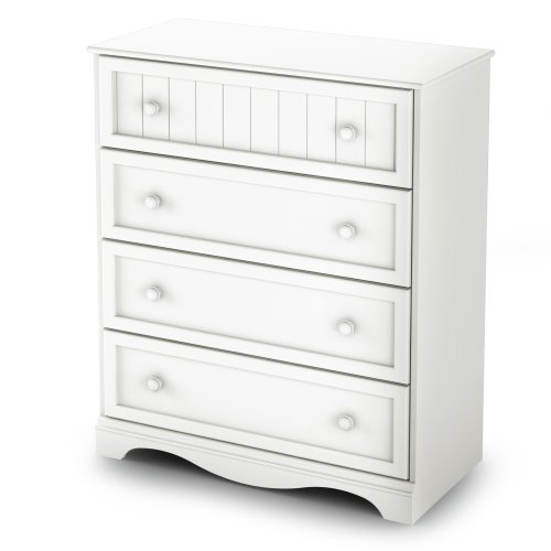 Savannah Bedroom Collection - South Shore Savannah Collection 4-Drawer Chest, White