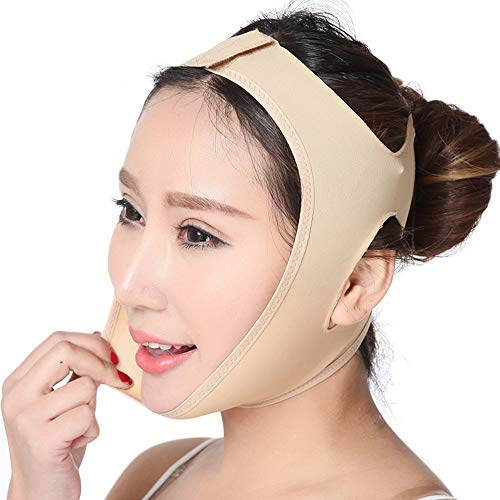 Facial Thin Face Mask Slimming Bandage Skin Care Belt Shape And Lift Reduce Double Chin Face Mask Face Thining Band (M)