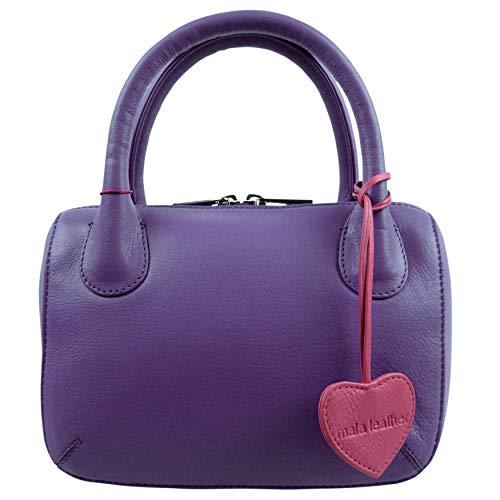Blue Violet Blu A Leather Mala Mano Borsa Donna A4FTPSPY