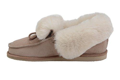 Beige Blanc Chaussures Laine Vogar Mouton W76 Chaussons Peau Luxe Pantoufles Chaud de avec Hommes Femmes Doublure 6C6xqT