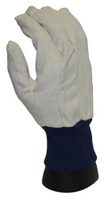 PIP WA8124A-AMZ Brahma Men's Large Glove Cotton Canvas, White, 1 Dozen