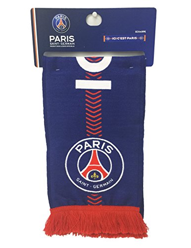 PSG Scarf - Official Paris Saint Germain Product, (55''x 8 - 140cm x 20cm) Made in EU, Echarpe by PSG Merchandising