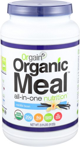 Orgain Organic Plant Based Meal Powder, Vanilla Bean, 2.01 Pound, Packaging May Vary Vegan Meal Replacement