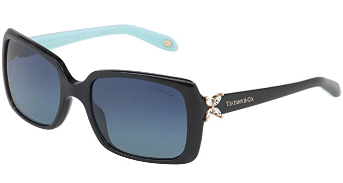 775521e871017 Image Unavailable. Image not available for. Color  Tiffany   Co. TF4047B -  80014U Black Blue Sunglasses ...