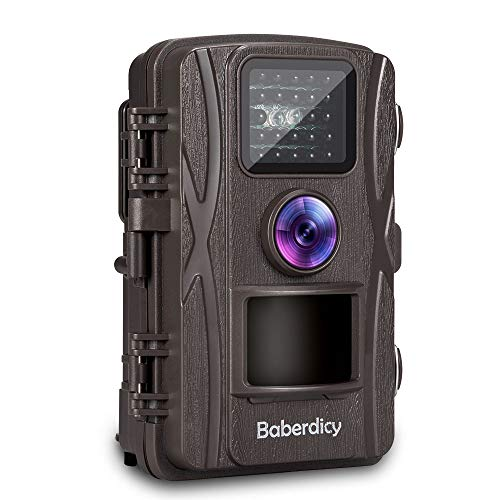 Baberdicy Trail Camera, 1080P 12MP HD Wildlife Camera Motion Activated Night Version,Waterproof Game Hunting Cam 120°Wide Angle, 0.2s Trigger Time, 65ft Range