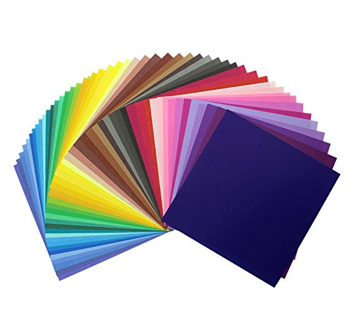 MAGICMAI 50 Vivid Colors 300 Sheets Single Sided Origami Paper 4-Inch by 4-Inch for Arts and Crafts Projects