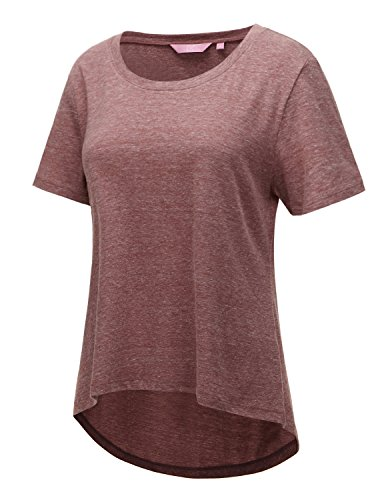 Regna X Short Sleeve Round neck Cotton Tri blend Summer T shirt Top (3 Style, S 3X)