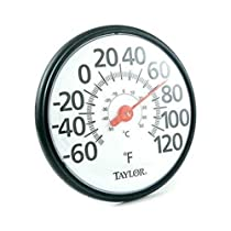 Taylor 6700 Large 12 Easy-to-Read Dial Thermometer -60? - 120?F (-50? - 50?