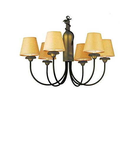 Meyda Tiffany 65545 N/A Contemporary / Modern Six Light Chandelier from the Wine Bottle Collection 65545