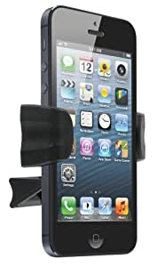 Kit HOLVENT2 - Soporte de móviles para coches Apple iPhone 3, 3G, 3GS, 4, 4S y 5, negro