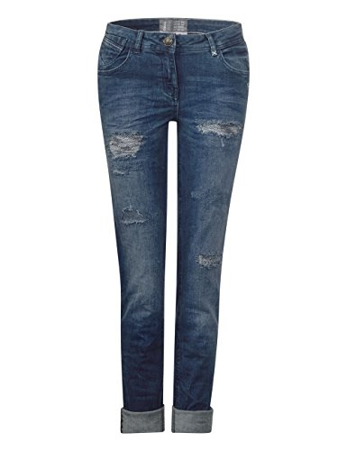 Cecil Jeans 10315 Blue Blu dark Wash Donna Straight r6zrg