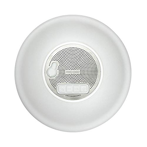 Poolmaster Multi-Light Floating Pool Speaker with Call Functionality and Northlight 6.75 in. Silver Metallic Round Swimming Pool Thermometer with Cord