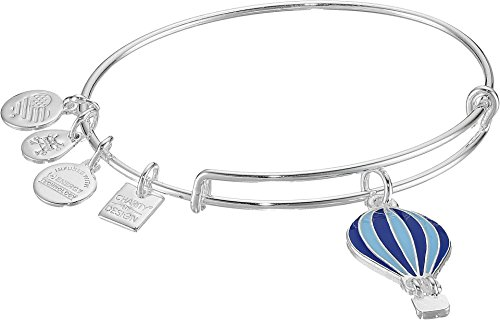 Alex and Ani Charity by Design, We Rise EWB, Shiny Silver Bangle Bracelet (Air Hot Balloon)