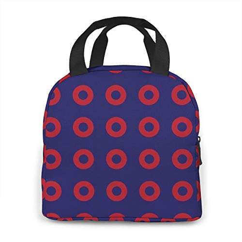 Price comparison product image Phish Circles Lunch Bag Tote Bag Lunch Organizer Lunch Holder Insulated Lunch Cooler Bag for Women / Men