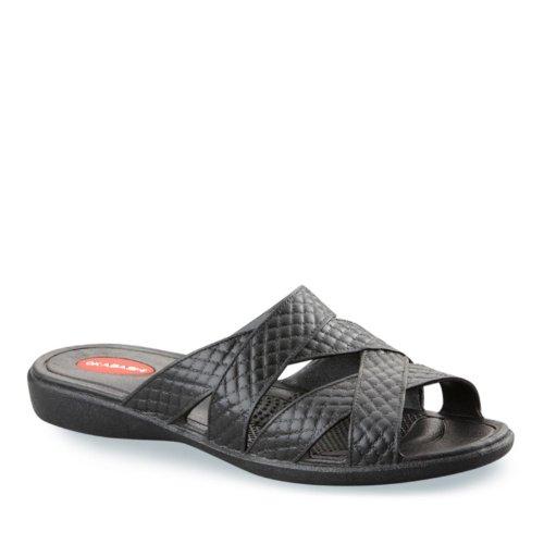 Cross Flip Strap Sandals Women's Flops Okabashi Black Zzqn5x7wWU