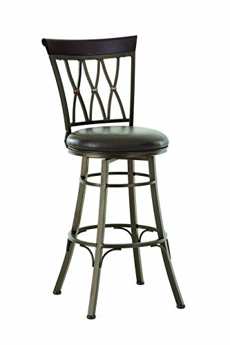 Steve Silver Company Bali Swivel Bar Chair, 19 W x 17 D x 48 H