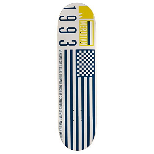 Flag Skateboard Deck - Meridian Flag 93 Skateboard Deck - White - 8.125