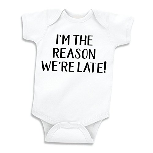 Bump and Beyond Designs Funny Baby Clothes, I'm The Reason We're Late, (3-6 Months) ()