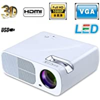 Lightinthebox LED 3D Home Theater Business Projector 3000 Lumens 800x600 16:9 1080p VGA USB SD HDMI Input