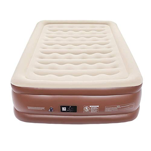 Indoor Inflatable Mattress 55CM High Bed PVC Flocking Air Bed with Built in Inflator Pump, Easy to Store CIM0910 by ZCY-Auto Mattress
